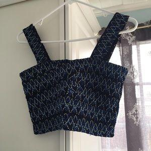 NWT Zara Embroidered Crop Top